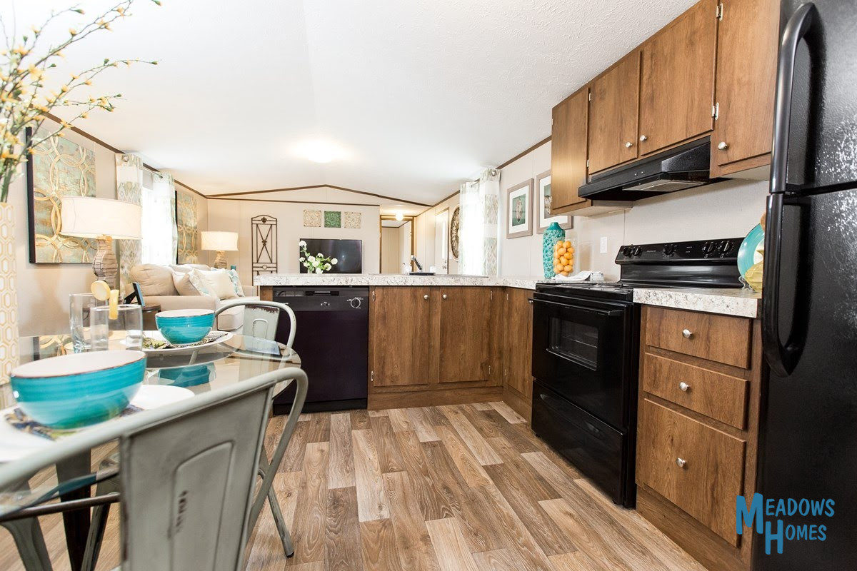 Kitchen & Dining & Living Areas