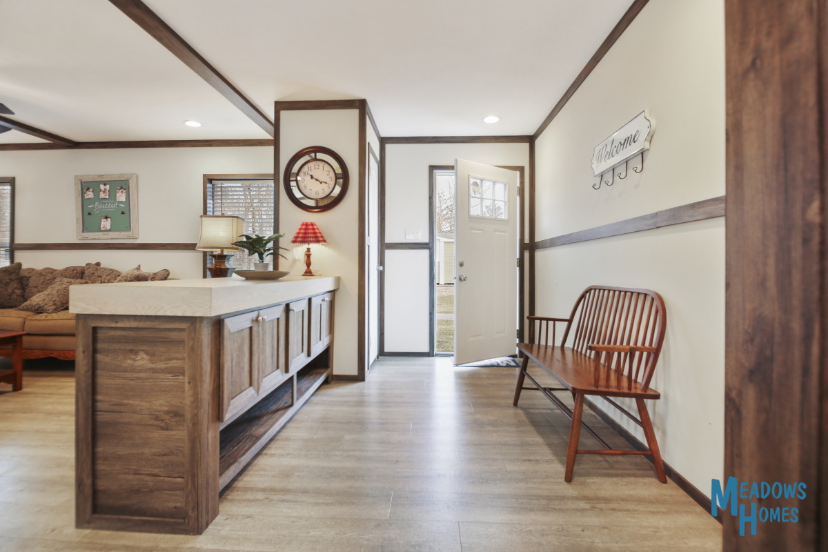 Front Entryway & Living Room