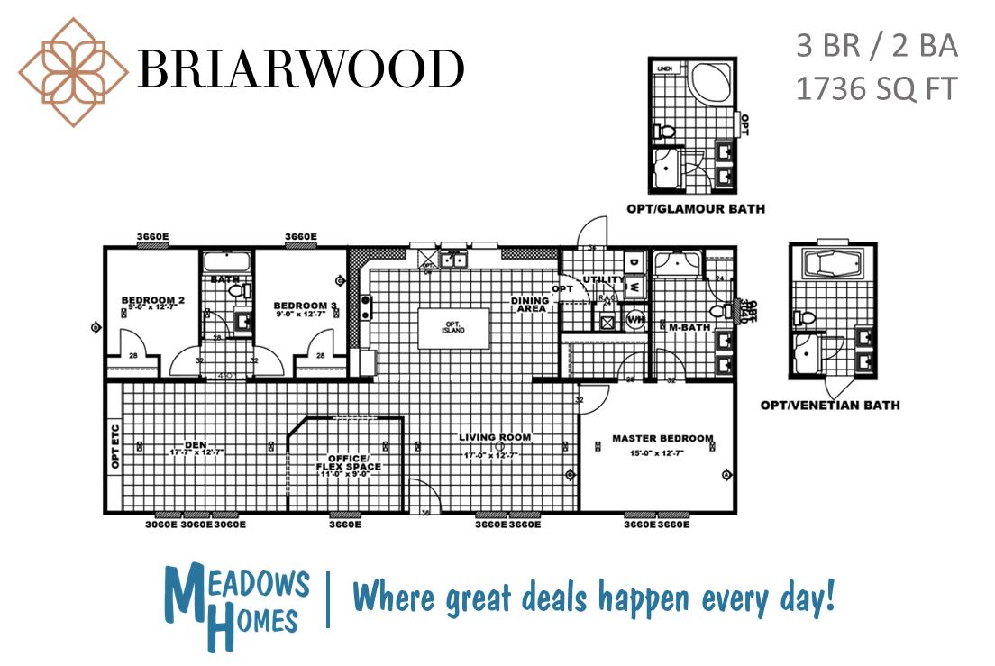 Briarwood 3 BR Floorplan
