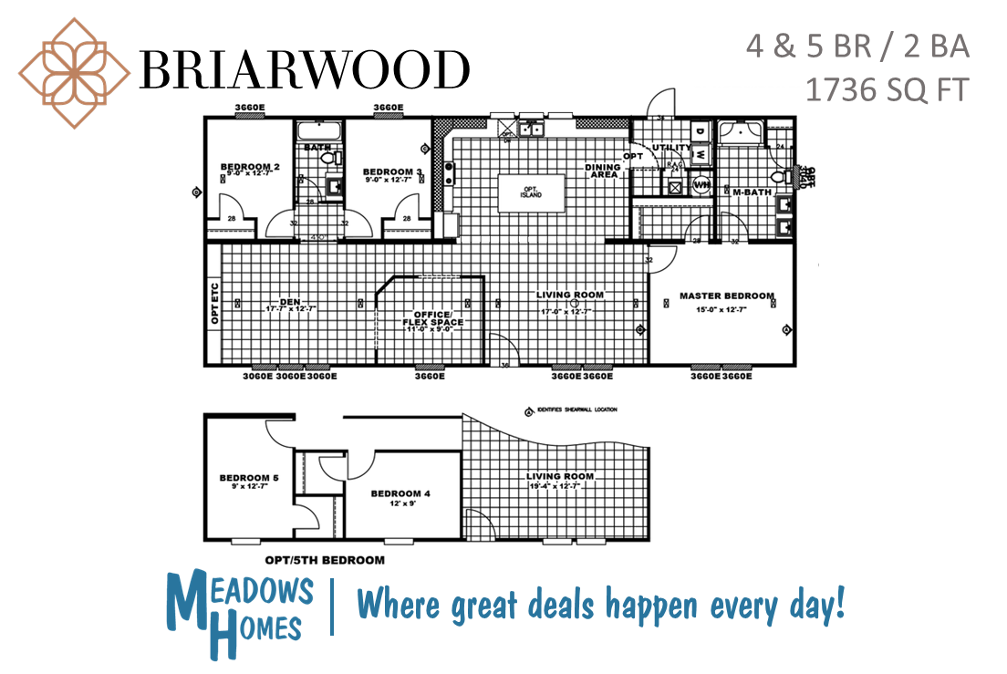 Briarwood 4 & 5 BR Floorplan