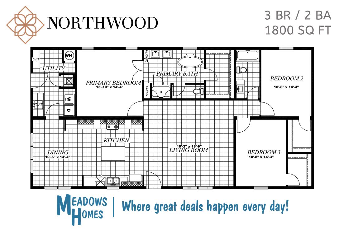 Northwood 3 BR Floorplan #1