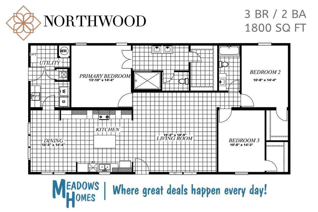 Northwood 3 BR Floorplan #2