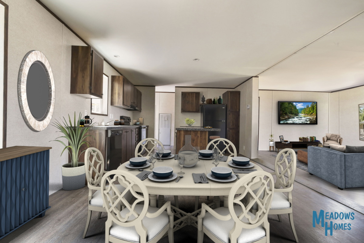 Dining & Kitchen & Living Rooms