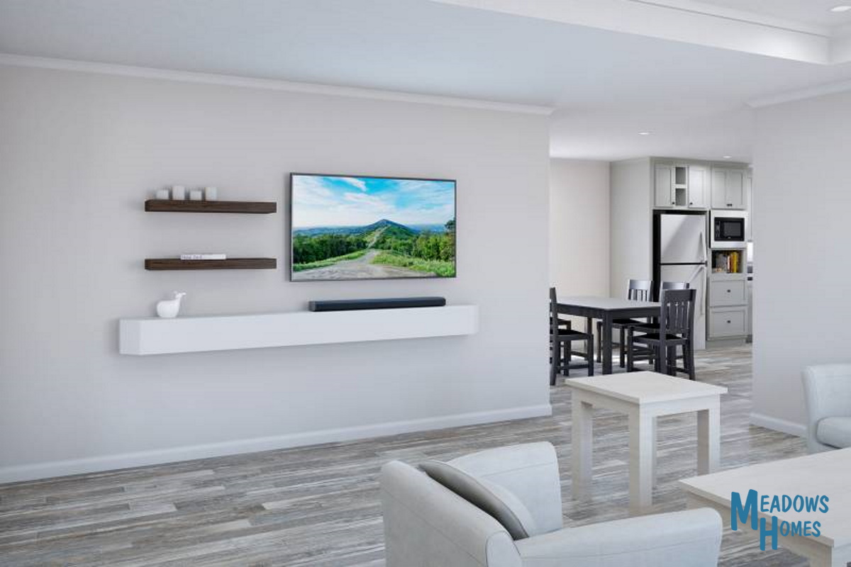 Island Kitchen & Dining & Living Room