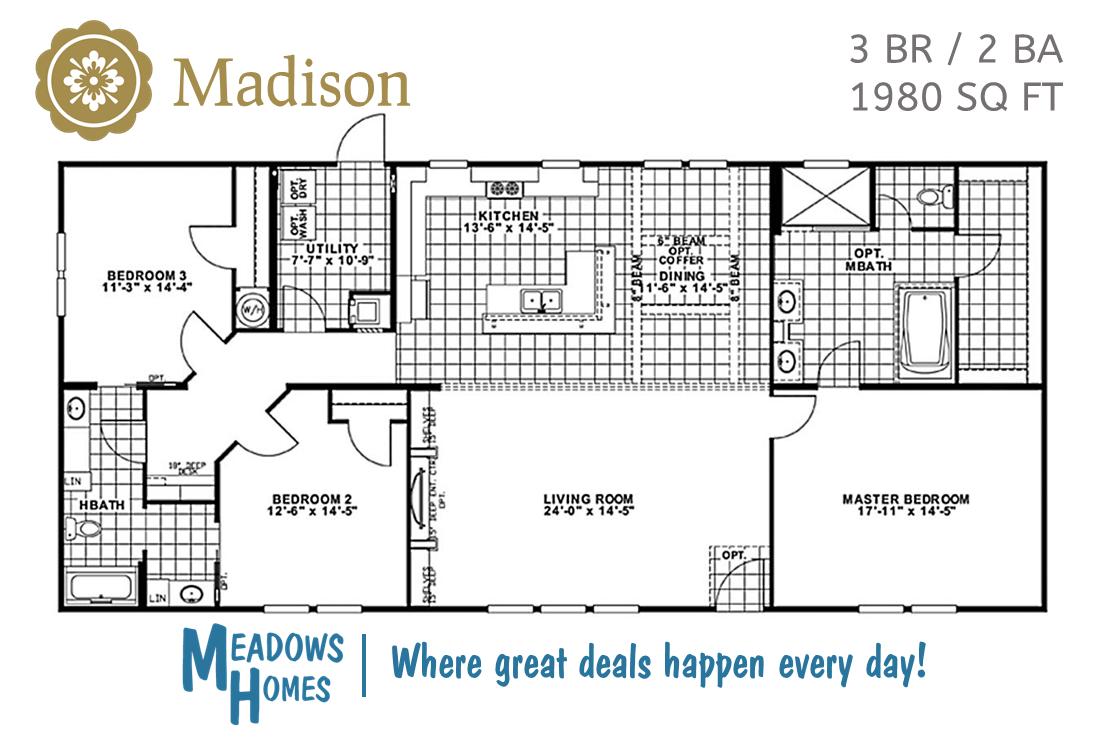 Madison 3 BR Floorplan