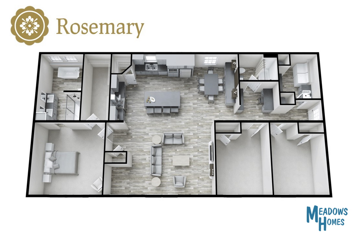 Rosemary 3D View
