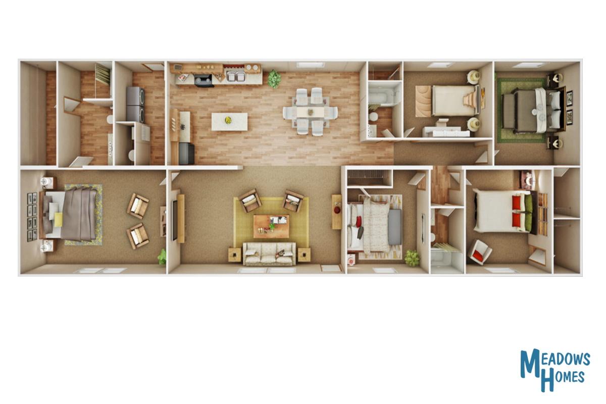 Monticello 3D Floorplan